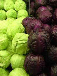 Green-purple- cabbages-vegetable-garden