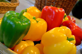 Green-yellow-red-bell peppers-how-to-grow-an-organic-garden-at-home