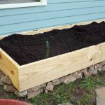 Wooden box with soil-raised-bed-gardening-ideas