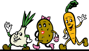 Vegetables smiling-running-waving-foods-that-promotes-healthy-hearts
