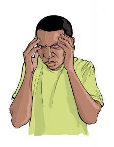Man holding head has headache-cure-headache-naturally