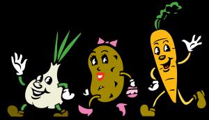 Cartoon vegetables-garlic-natural-medicine