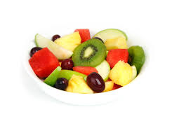 Bowl of fruit salad-healthy-junk-foods
