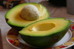 Sliced avocado on plate-avocado-nutrition-facts