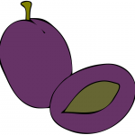 Purple prune cartoon-prune-health-benefits
