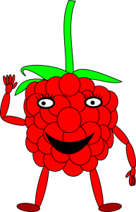 Raspberry cartoon-raspberry-health-benefits