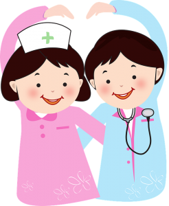 Doctor and nurse-The benefits of healthy eating in early childhood