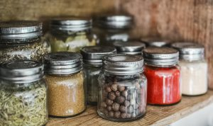 Herbs in jar-homemade-herb-seasoning
