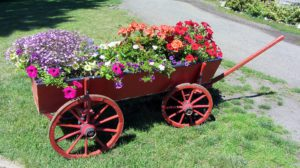 A Wagon With Flower-landscping-ideas-for-front-yards